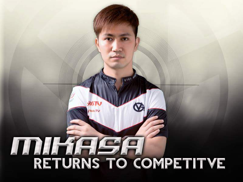 Mikasa returns to competitive DotA2