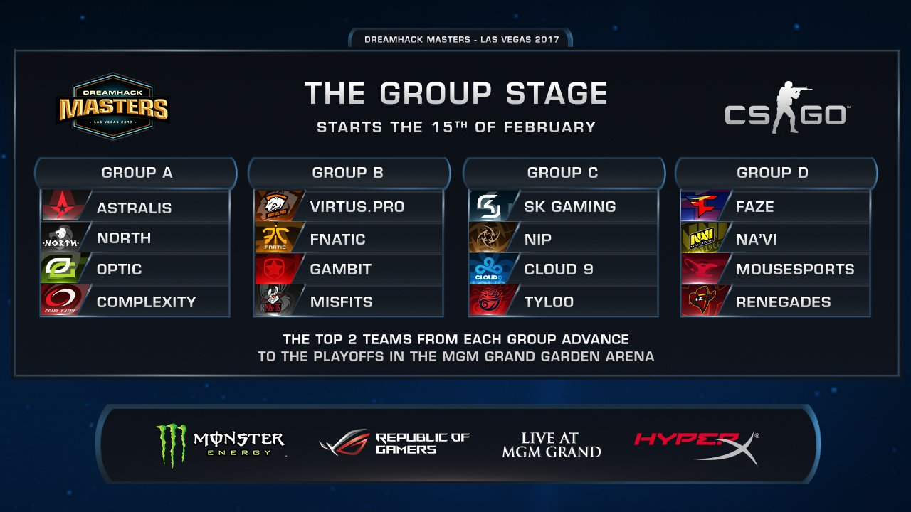 Dreamhack Las Vegas groups announced