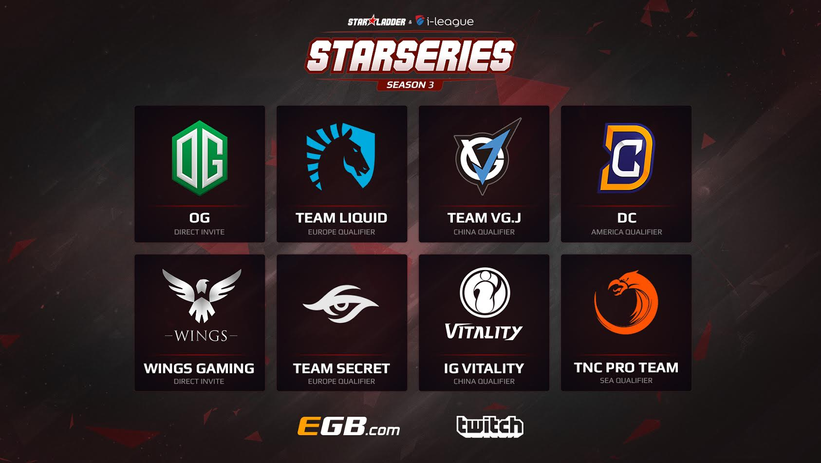 Dota 2 LAN-finals participants at SL i-League StarSeries Season 3