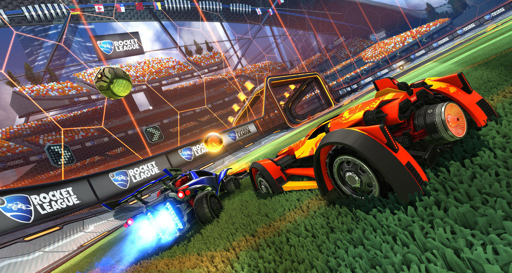 Full Cross-Platform play arrives in Rocket League.
