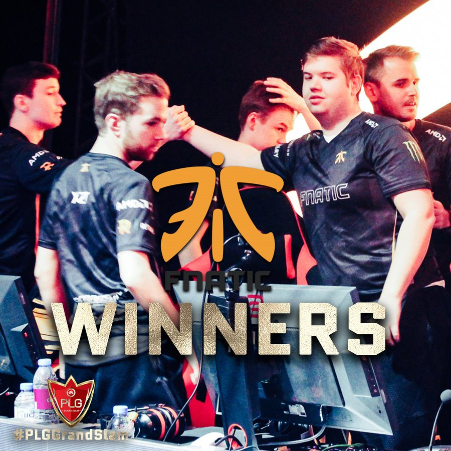 The PLG Grand Slam comes to an end with Fnatic as the Champions.