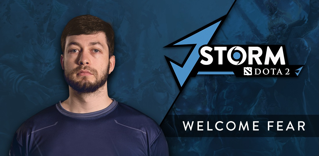Fear joins J.Storm before the Chongqing Major.