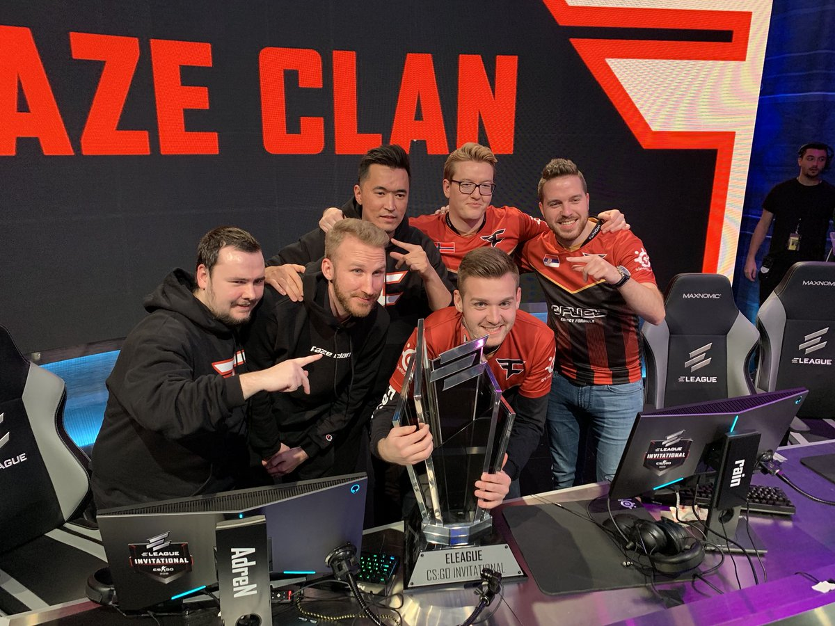 Faze wins Eleague CSGO Invitational 2019.