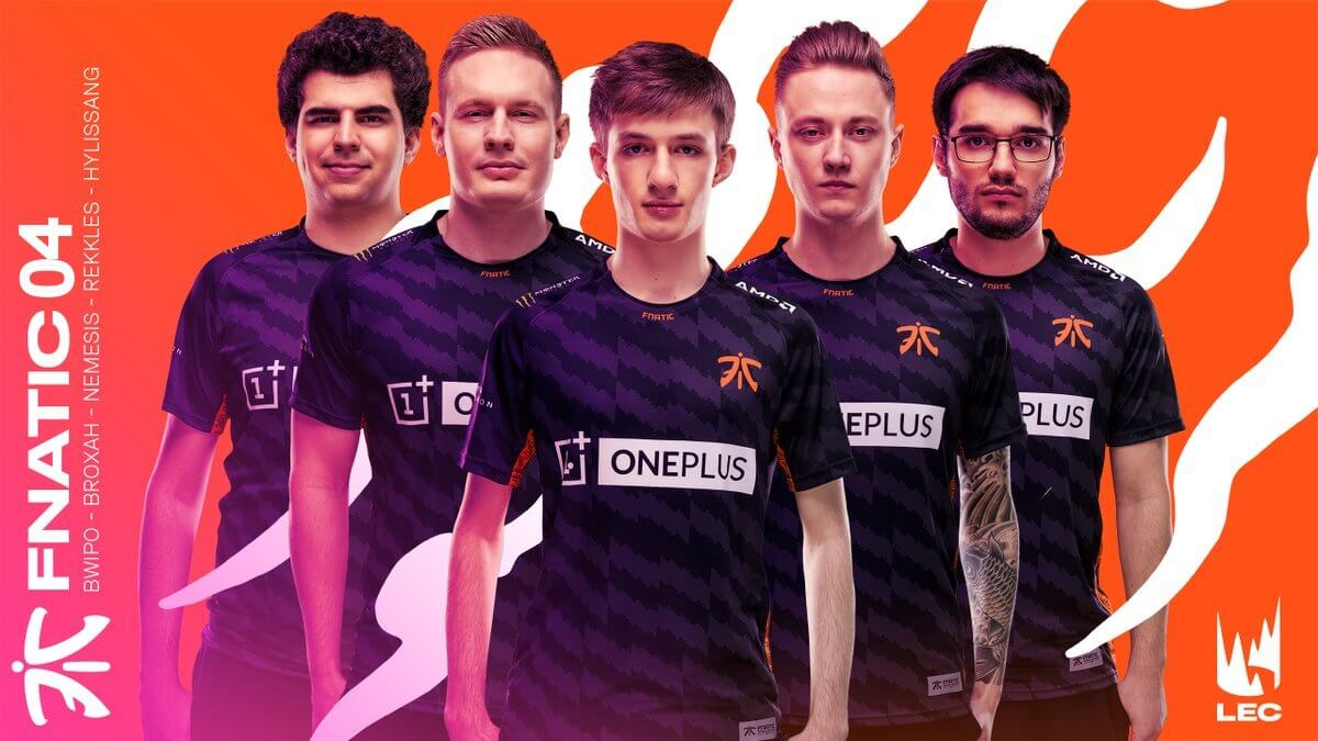 Fnatic said to be most popular League of Legends Team then G2 Esports