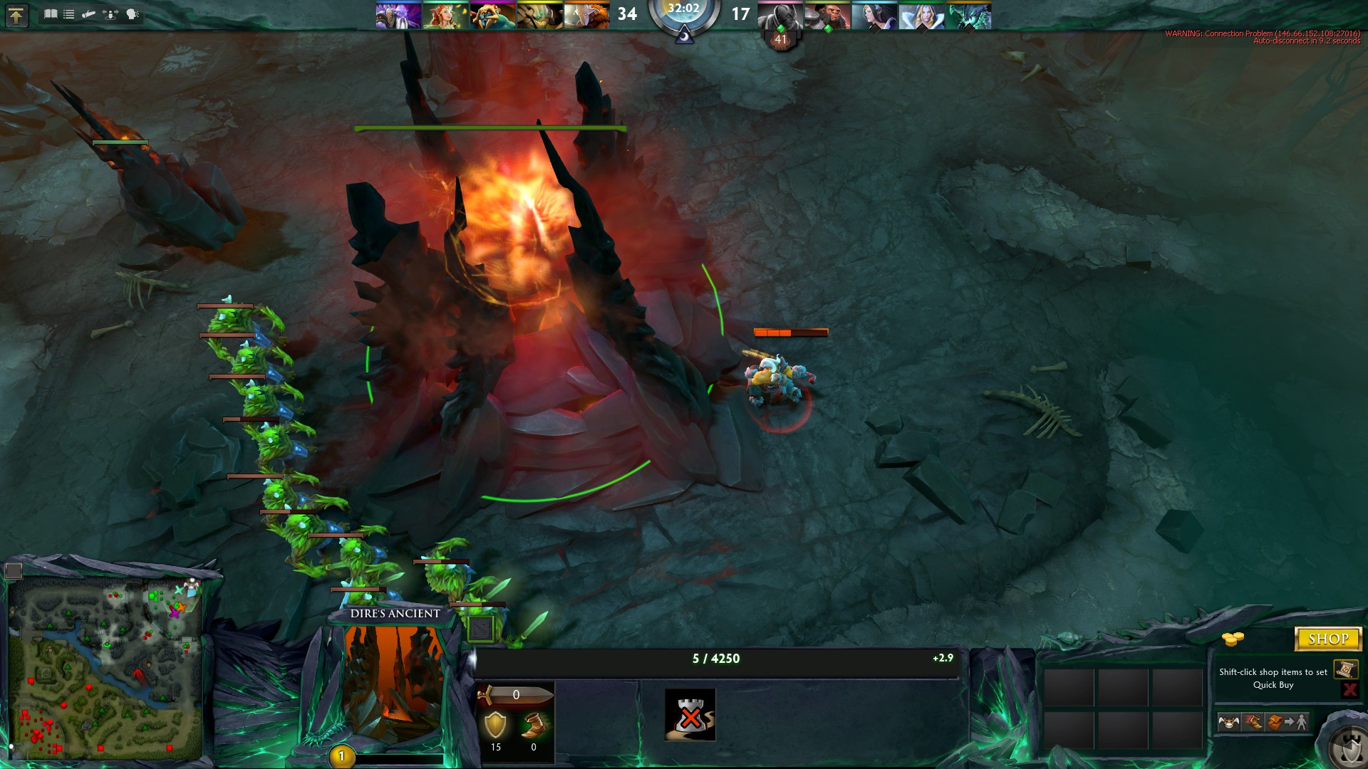 Players abused Dota 2 server crash with command spam scripts