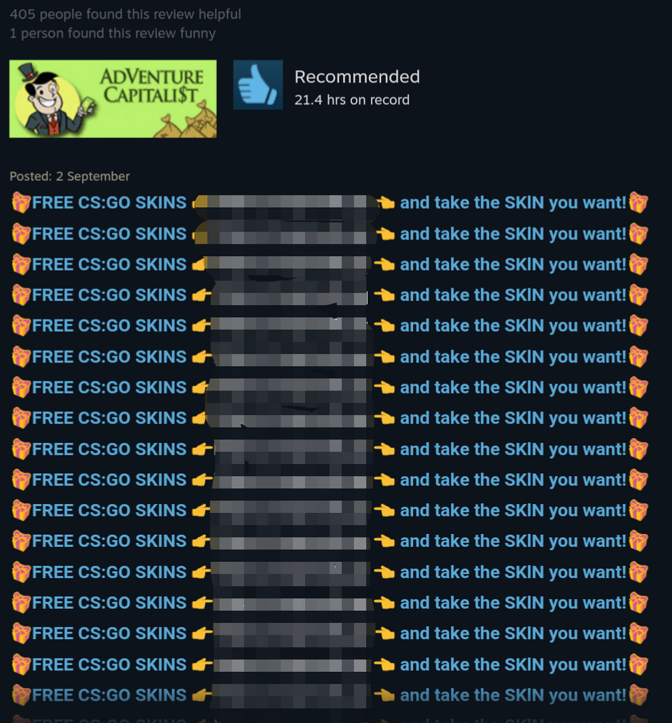 This is now what CS:GO scammers are now targeting