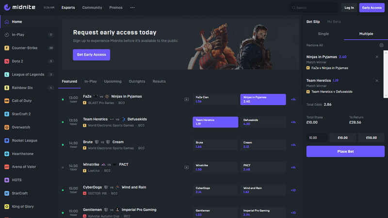 Esports betting platform, Midnite, raises $2.5m