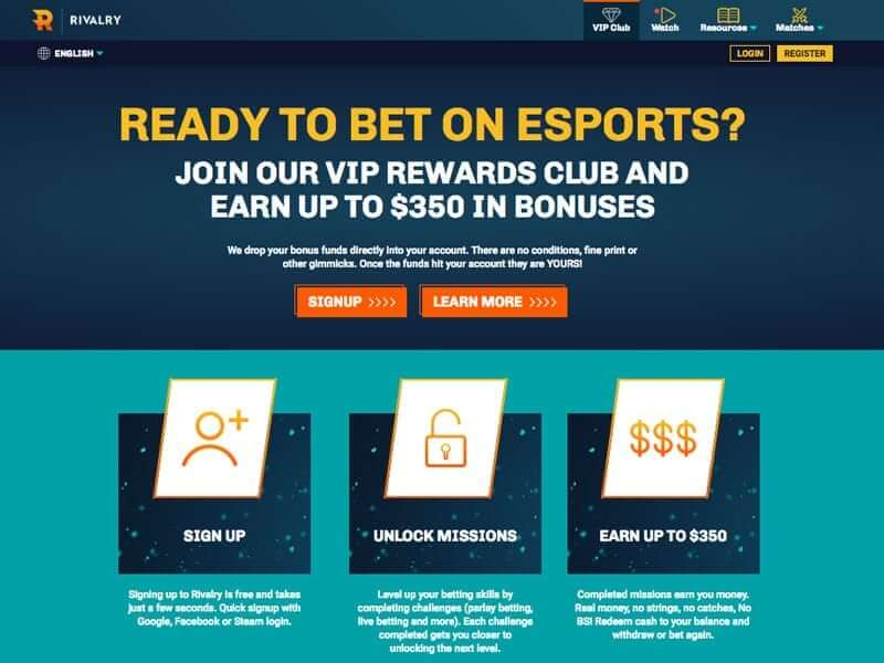 Rivalry Esports Review – Bonuses, Payment Methods and Games