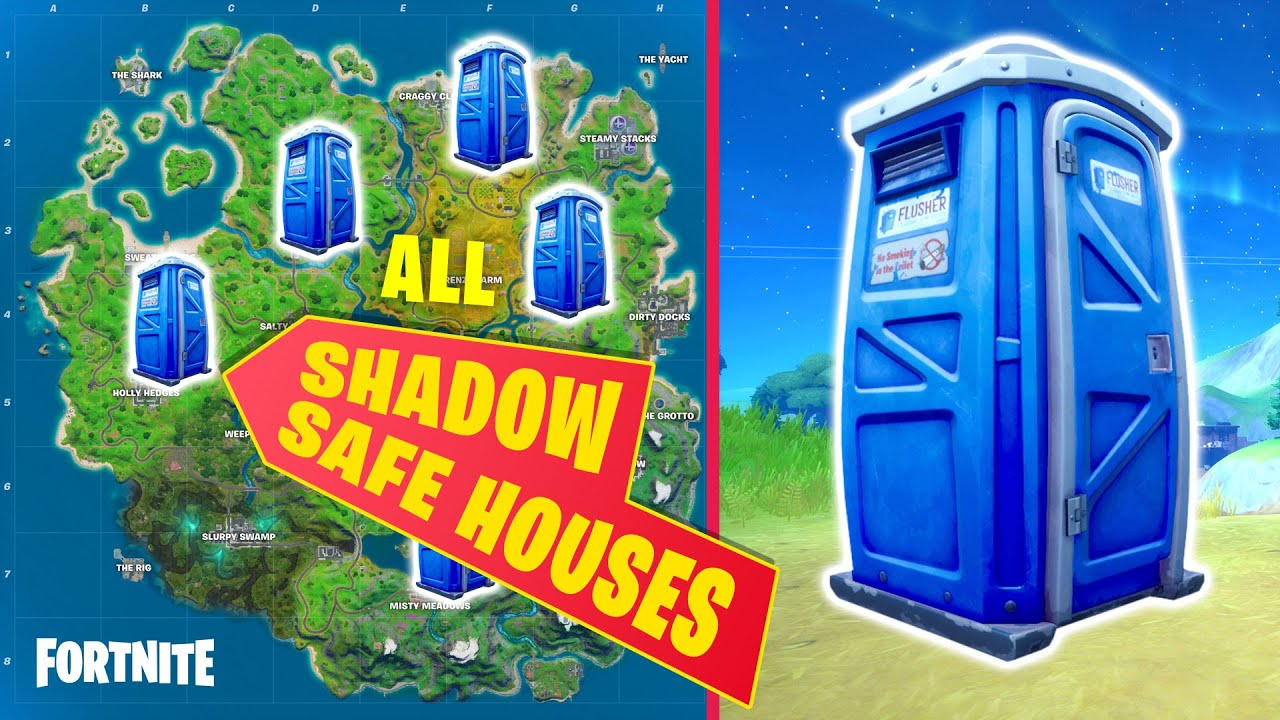 Where are Safe Houses in Fortnite Chapter 2?
