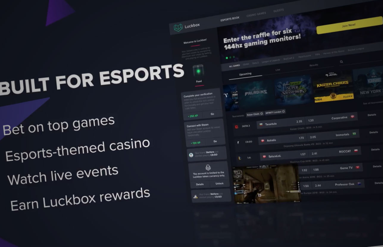 Esports betting platform 'Luckbox' raises $2.8m ahead of IPO
